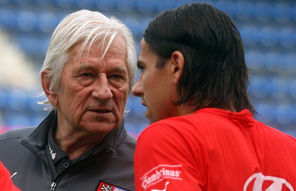 Milan Baroš a Karel Brückner.