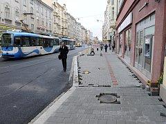 Nádražní ulice v centru Ostravy. Ilustrační foto.