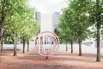 Návrh úpravy prostoru u technického muzea v Kopřivnici. VIZUALIZACE: m2au