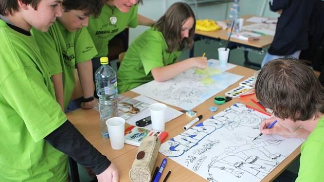 Žáci z devíti škol obvodu Moravská Ostrava a Přívoz spolu soupeří v soutěži  Spinakl 2009