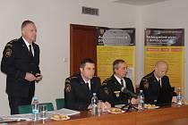 Vedení moravskoslezských hasičů (zleva ředitel Vladimír Vlček, náměstek Miloš Střelka a vedoucí oddělení Antonín Krömer a Martin Pliska).