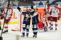 Hokejisté Vítkovic porazili Olomouc 3:1.
