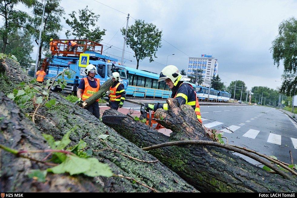 Zásah hasičů v Ostravě.