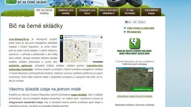 Úvodní strana webu Zmapujto.cz