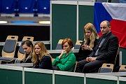1. kolo tenisového Fed Cupu: Česká republika - Rumunsko, 10. února 2019 v Ostravě. Na snímku, Zuzana Bajgarová a Radim Babinec