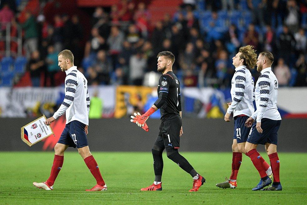 Utkání skupiny E kvalifikace mistrovství světa ve fotbale: Česko - Bělorusko, 2. září 2021 V Ostravě. (zleva) brankář Česka Tomáš Vaclík.