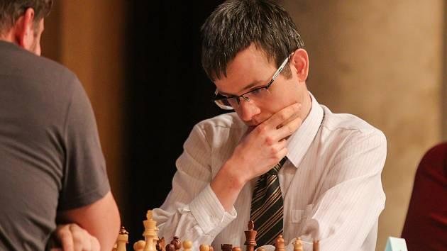 Šachový Ostravský koník, 27. dubna 2019 v Ostravě. Na snímku David Navara.