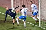 Fotbalisté Baníku Ostrava hrají v neděli 21. března od 14 hodin v Uherském Hradišti proti Slovácku. Hrát nemůže Filip Kaloč (vpravo), který byl v osmifinále MOL Cupu na Spartě (0:1) vyloučen.