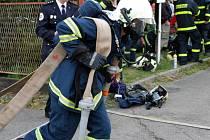Náročnou trať soutěže TFA otestovalo v sobotu ve Vratimově na osm desítek dobrovolných i profesionálních hasičů
