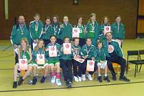Basketbalové minižákyně SBŠ Ostrava, které v národním finále získaly bronzové medaile