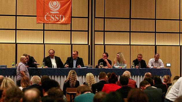 Povolební vyjednávání klubu ČSSD v hotelu Clarion v Ostravě.