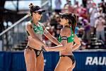 J&T Banka Ostrava Beach Open - zápas o 3. místo ženy, 6. června 2021 v Ostravě. Barbara Seixas de Freitas (BRA) a Carolina Solberg Salgado (BRA).