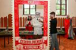 Výstava figurín - dějiny národa - Masaryk - Karel IV. - Jan Hus - Jan Žižka