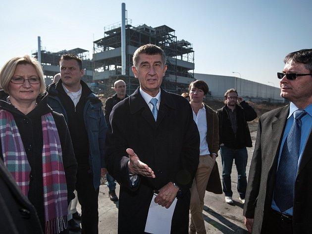 Ministr financí Andrej Babiš (ANO) v Ostravě.