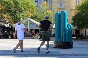 Nová výstava v Ostravském muzeu mapuje výrobu ocelových lahví ve Vítkovicích. Srpen 2021.