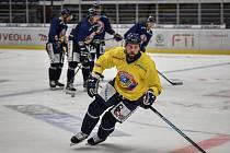 Hokejisté HC Ridera Vítkovice 2. srpna 2020 v Ostravě na tréninku. Roman Polák