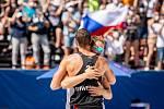 J&T Banka Ostrava Beach Open - semifinále muži, 6. června 2021 v Ostravě. David Schweiner (CZE) a Ondřej Perušič (CZE).