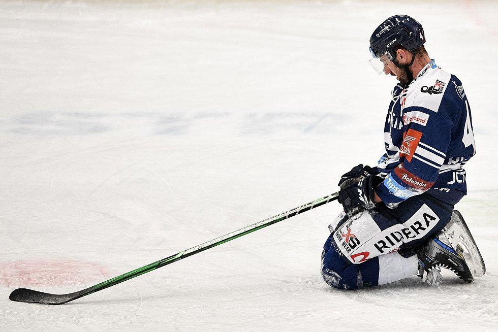 Utkání 16. kola hokejové extraligy: HC Vítkovice Ridera - HC Oceláři Třinec, 15. února 2021 v Ostravě. Filip Pyrochta z Vítkovic.
