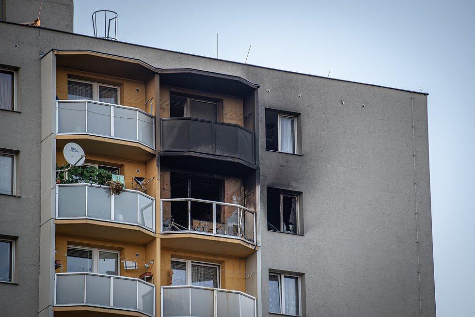 Záběry z místa tragického požáru v Bohumíně, sobota 8. srpna 2020.