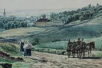 Na litografii J. Alta z roku 1855 je Moravská Ostrava zachycena čtvrt století po největší epidemii cholery v její historii. Pohled je ze Slezské Ostravy.