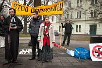 Demonstrace proti rasismu a na podporu obětí rasismu.