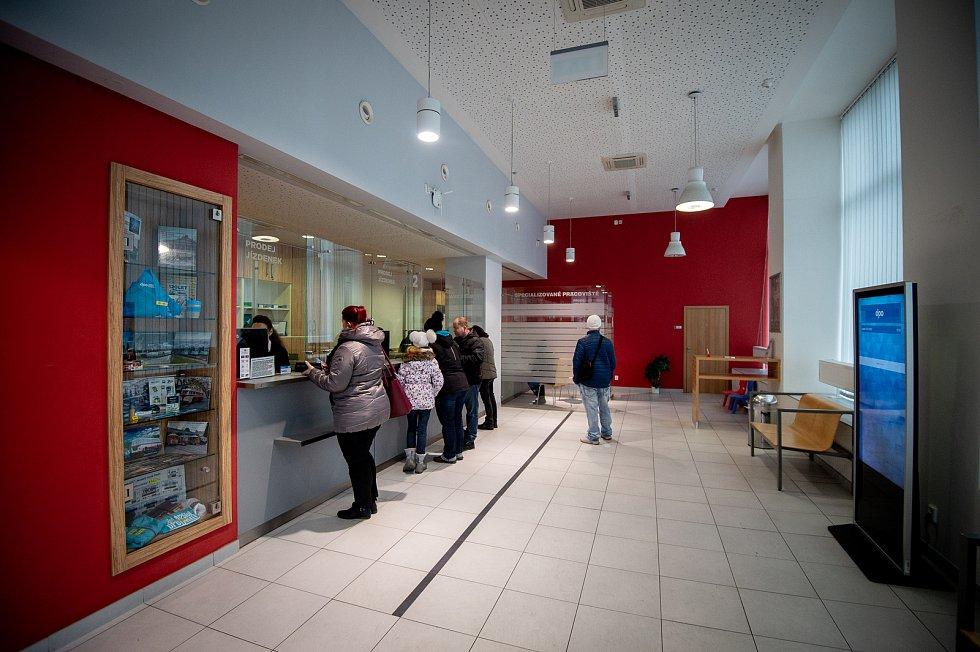 Budova dopravního podniku Ostrava, 31. ledna 2020. Ilustrační foto. Na snímku zákaznické centrum.