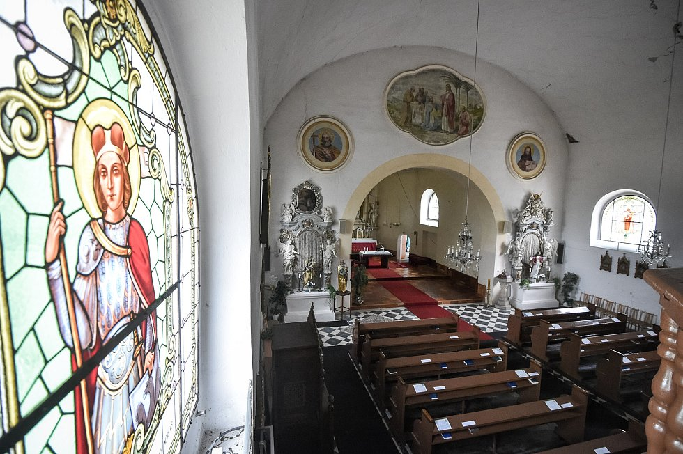 Kostel svatého Bartoloměje je římskokatolický filiální kostel spadající pod mariánskohorskou farnost. Nachází se v ostravském městském obvodu Nová Ves, 14. srpna 2018 v Ostravě.
