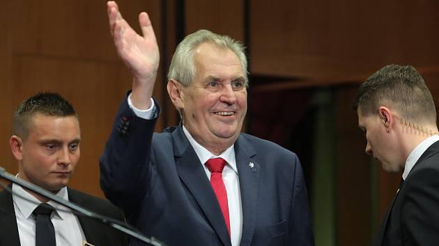 Prezident Miloš Zeman v Top hotelu Praha.