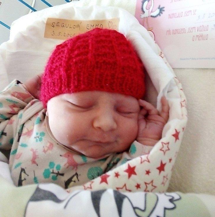 Emma Segulová, Krnov, narozena 3. května 2021 v Krnově, míra 47 cm, váha 3170 g. Foto: Pavla Hrabovská