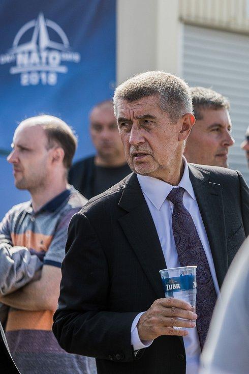 Dny NATO 2018 v Ostravě. Na fotogarfii premiér Andrej Babiš.