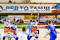 Volejbalisté VK Ostrava v 5. kole extraligy podlehli doma Kladnu 1:3.