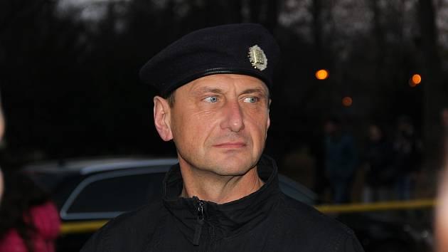RADÍM Daněk na snímku z listopadu 2018, kde velel bezpečnostním opatřením v souvislosti s rizikovým zápasem Opava-Baník.