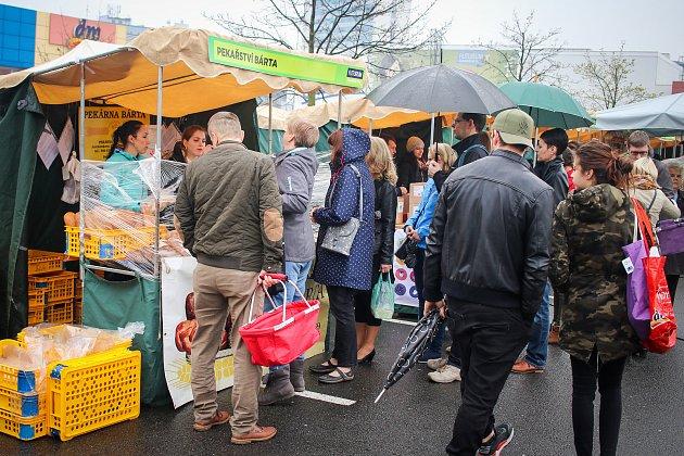 Farmářské trhy unákupního centra Futurum, 6.dubna 2019vOstravě.