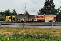 Nehoda na D56 mezi Ostravou a Frýdkem-Místkem.