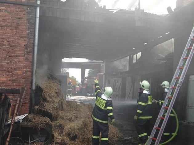 Požár stodoly