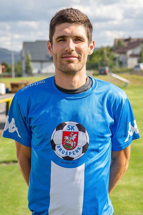 Fotbalový klub - Spolek SK Brušperk, 26. srpna 2020 v Brušperku. Marek Aniol (obránce)