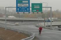 Sjezd z dálnice D47 na Rudnou ulici v Ostravě