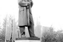 Socha V. I. Lenina, která stávala až do konce osmdesátých let minulého století v Ostravě-Porubě