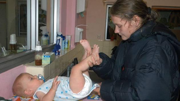 Michaela Slavíková a její syn Liborek