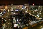 Rozsvícení vánočního stromu na Masarykově náměstí v Ostravě.