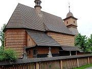 Dřevěný kostel sv. Kateřiny Alexandrijské v Ostravě-Hrabové.