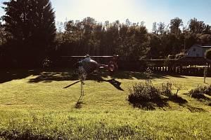 Letecká záchranná služba u zásahu. Ilustrační foto.