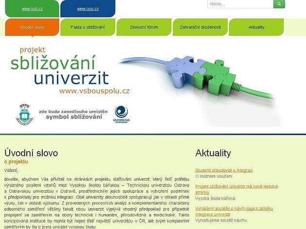Nový web projektu sbližování univerzit.