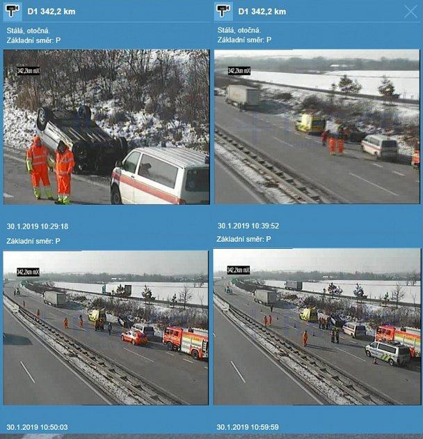 Dopravní nehoda na D1 uBravantic.