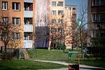 Sídliště Dubina v nejlidnatější části Ostravy, obvodu Jih. Středa odpoledne, 18. března 2020.