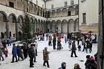 Na zámku v Bruntále se i letos konal jarmark nazvaný Vánoce na zámku.