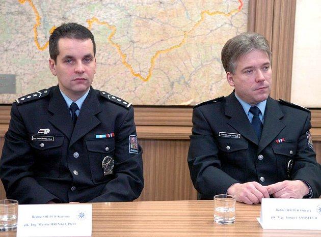 Noví policejní ředitelé - zleva Martin Hrinko a Tomáš Landsfeld
