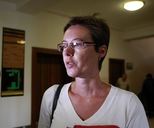 Ve čtvrtek 10.září před senátem Krajského soudu vOstravě znovu stanul Petr Kramný (37let) zKarviné. Na snímku znalkyně Šárka Grussmannová.