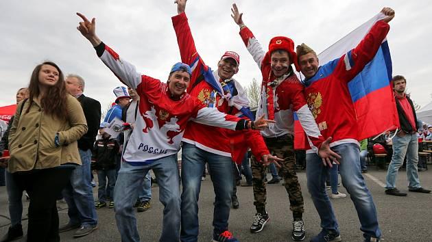 Fanoušci na MS v hokeji 2015 v Ostravě. Ilustrační foto.