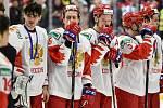 Mistrovství světa hokejistů do 20 let, finále: Rusko - Kanada, 5. ledna 2020 v Ostravě. Na snímku smutek Ruska.